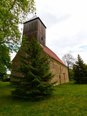 Protestant stone church from the 13th century