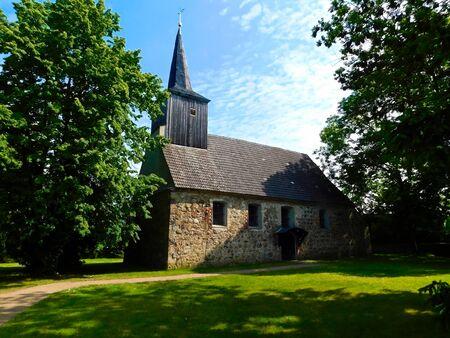 Protestant village church in the Uckermark