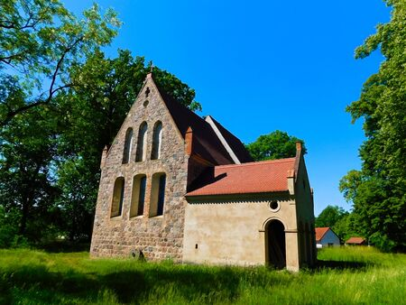 Early Gothic church building from the 13th century Stock Photo