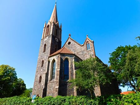 The Protestant village church in Hohensaaten