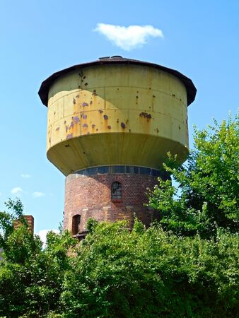 The former water tower in a city