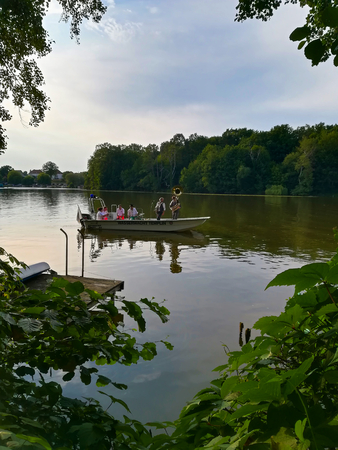 Templin, Brandenburg district Uckermark  Germany - July 20, 2019: 16th water games on the city lake of Templin