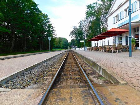The historic train station on the Baltic coast 版權商用圖片