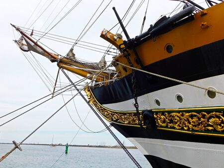 The bow of the sail training ship of the Navy