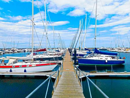 The boat harbor on the Baltic coast