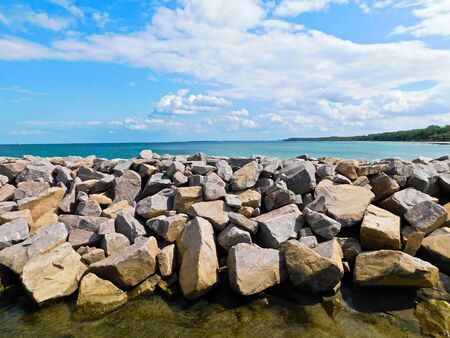 Stones as coastal protection on the Baltic Sea