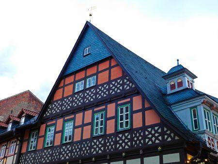 Das historische Fachwerkhaus einer Altstadt