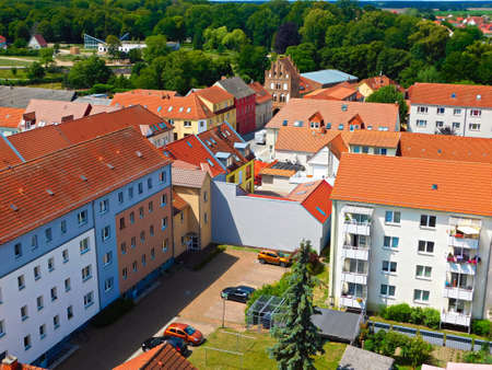 Above the roofs of a historic old town