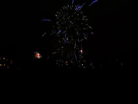 Fireworks on New Year's Eve from 2020 to 2021 Zdjęcie Seryjne - 162212616