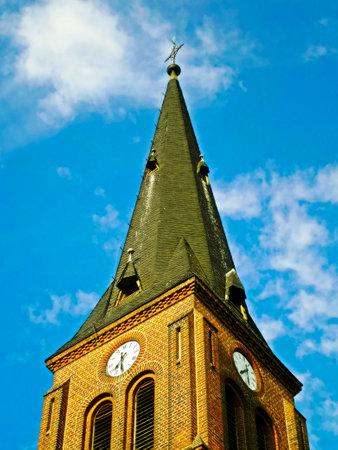The Evangelical Church in the village of Wiechmannsdorf Foto de archivo