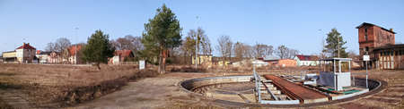 A former marshalling yard with a turntable in the Uckermark