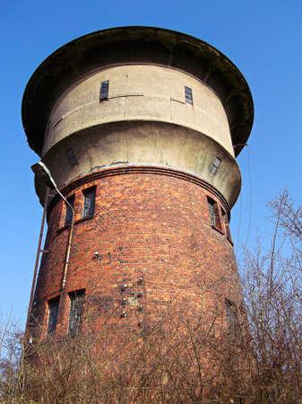 Former water tower from the marshalling yard in the Uckermark Zdjęcie Seryjne