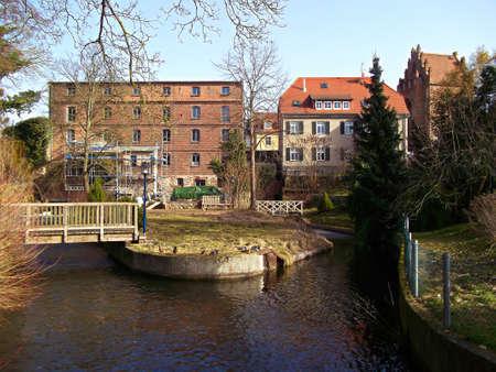 The mill stream at the old mill Zdjęcie Seryjne