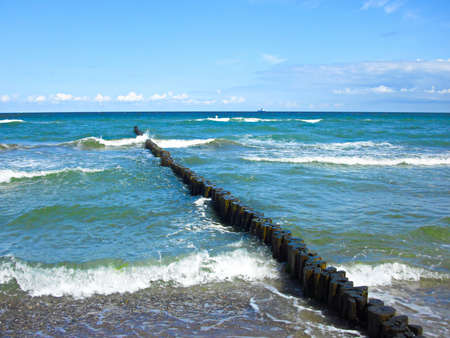 On the Baltic Sea beach of Warnemünde