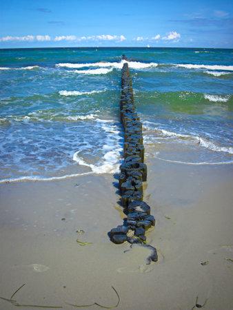 Groynes as coastal protection on the Baltic Sea coast