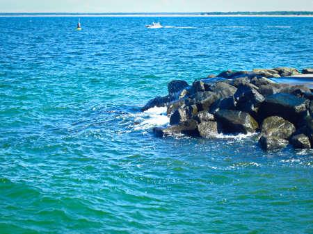 Granite stones for climbing the coast in the Baltic Sea