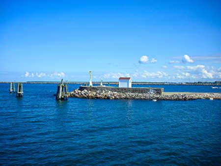 The harbor entrance of Warnemünde Zdjęcie Seryjne