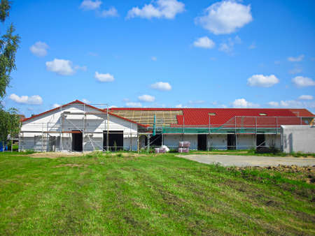 Construction work on a new house Zdjęcie Seryjne