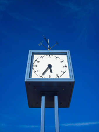 The clock on the boardwalk Zdjęcie Seryjne