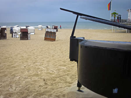 A grand piano on the beach of the Baltic Sea