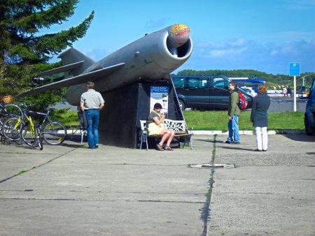 Peenemünde, Mecklenburg Western Pomerania / Germany - September 11, 2013: Former air ground guided missile for strategic missile carrier Tupolev Tu-16