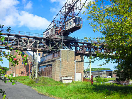 Crane system of the coaling plant in the former power station