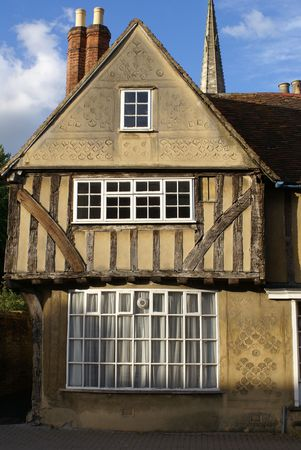 Old English Tudor-style town house photo