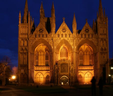 andrew: Cathedral Church of St Peter, St Paul and St Andrew at night