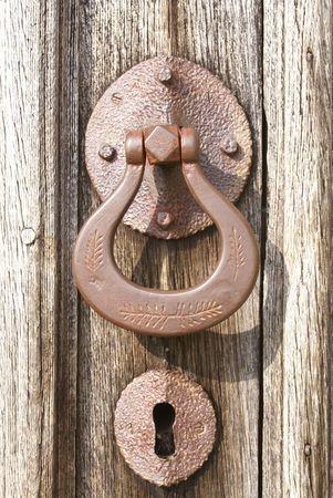 Door handle and keyhole photo