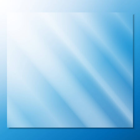 transparent glass on a blue background vector.