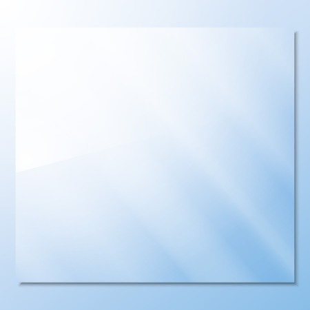 glass texture: transparent glass on a blue background vector.