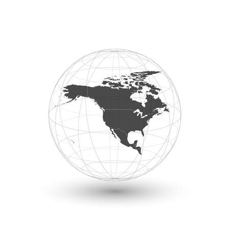 north america map: Nord America mappa di sfondo, light design illustrazione vettoriale