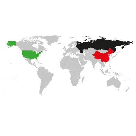 Gray world political map vector luz ilustracin vectorial de diseo gray world political map vector luz ilustracin vectorial de diseo gumiabroncs Image collections