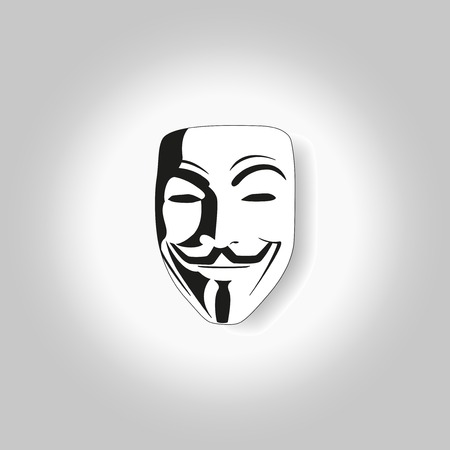 white isolated mask of anonymous vector illustration