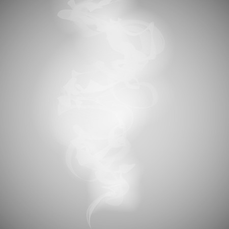 white smoke on a gray background vector. Vector