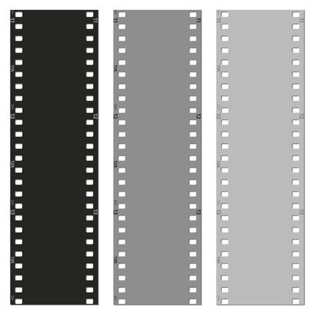 reel to reel: set of films pattern background vector illustration