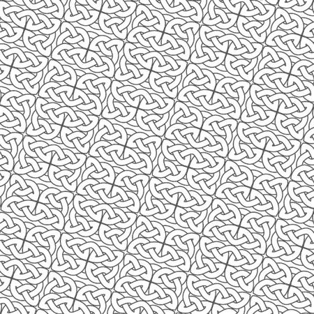 knotwork: Ornate gray background, ?eltic design vector illustration Illustration