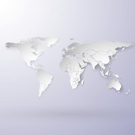 snowy design world map background vector illustration