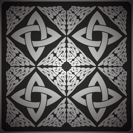 Ornate black background, ?eltic design vector illustration Vector