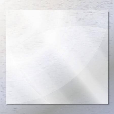 Transparent glass on the gray background vector. Illusztráció