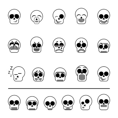 set of diferent icons skull vector illustration Stock Vector - 27882844