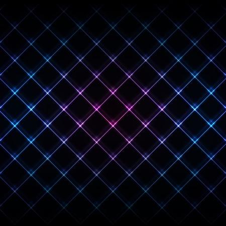 Abstract neon light black texture vector illustration. Vector