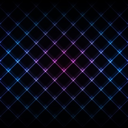Abstract neon light black texture vector illustration. Vector