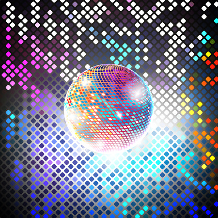 disco party: disco party vector background. light design background