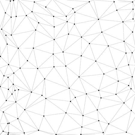 通信、ベクトル図の分子構造、灰色背景  イラスト・ベクター素材