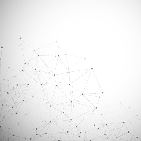 Molecuul structuur, grijze achtergrond voor communicatie, vector illustratie Stock Illustratie