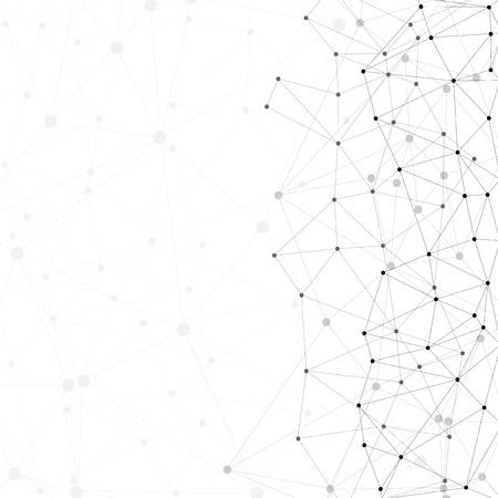 Molecola struttura, sfondo grigio per la comunicazione, illustrazione vettoriale Archivio Fotografico - 30076176
