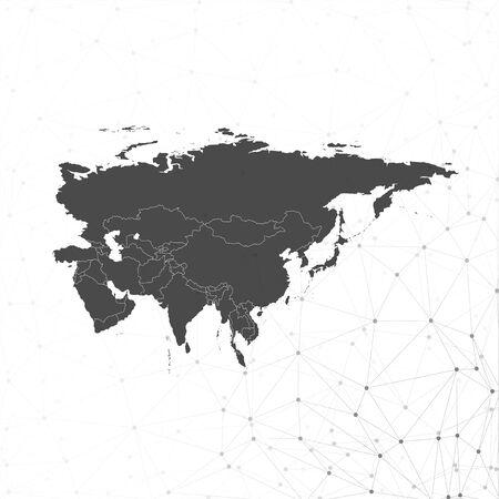 eurasia: Eurasia map background vector illustration, background for communication Illustration