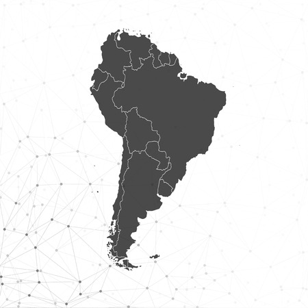 South America map vector illustration, background for communication 向量圖像