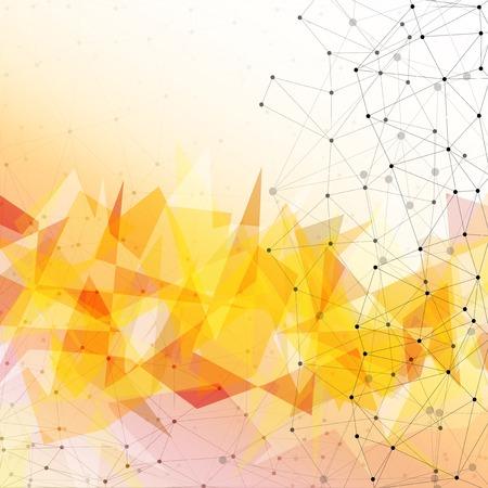 Orange triangle design background, vector illustration, background for communication  Vector